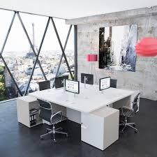 bureau pour professionnel bureau pour open space en stratifié contemporain professionnel