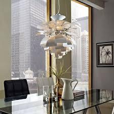 artichoke style chandelier modern lamp in aluminum many colors 19