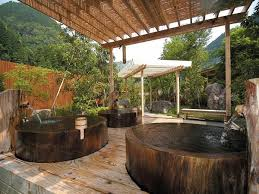 outdoor bathroom designs bathroom outdoor bathroom with japanese ofuro soaking tubs