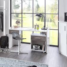 Schreibtisch Grau G Stig Schreibtisch Kinderzimmer Joker Mit Schubkasten Beton Weiß
