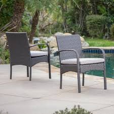 Patio Dining Chairs With Cushions Bay Isle Home Mayaguana Patio Dining Chair With Cushion Reviews