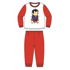 dc comics superman toddler pajamas 100 cotton 1yrs 3yrs red