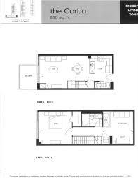 Den Floor Plan Mozo Lofts 333 Adelaide St East One Bedroom U0026 Den Floor Plans