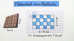 rechteck fläche berechnen flächeninhalt eines rechtecks mathematik lernen