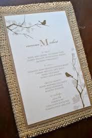 Ideas For Wedding Programs Rustic Love Birds Burlap Fan Wedding Program 3 00 Via Etsy