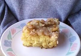 pineapple cake with cocounut pecan icing