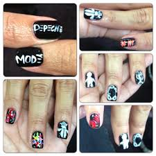 depeche mode nail design practice before the tour starts