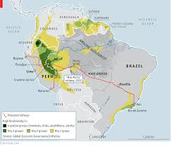 Amazon River On World Map by A Railroad That Crosses The Amazon Could Be An Infeasible