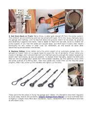 Overhead Door Company Calgary 4 Easy Steps To Fix A Broken Garage Door Cable