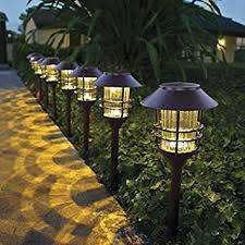 hgtv home 8 led solar pathway lights garden