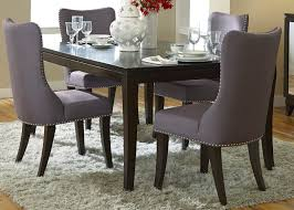 Modern High Back Dining Chairs Grey Upholstered Dining Chairs Decofurnish