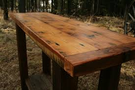 Barn Wood Sofa Table by Reclaimed Barn Wood Furniture Josep Homes Collection