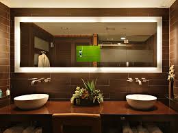 large lighted wall mirror around home furniture
