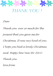 thank you card wedding wording thank you letter template for kids christmas fun pinterest