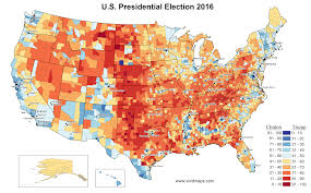 Election Map 2012 by 2016 U S Presidential Election Results In Three Maps Vivid Maps