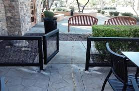 Restaurant Patio Design Ideas by Decorative Fencing For Patios Home Design Awesome Unique Under