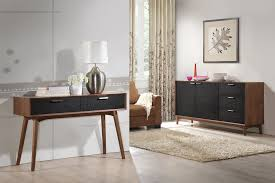 Small Furniture Small Narrow Modern Walnut Console Table With High Legs And Black