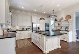 granite overhang corbels kitchen traditional with recessed