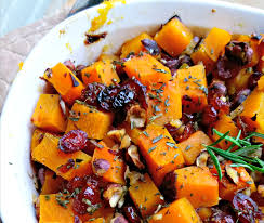 rosemary cranberry butternut squash side dish recipe kaylene