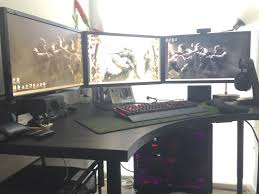 ikea gaming desk setup best home furniture decoration