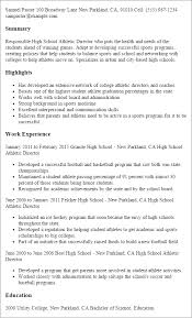 Director Resume Examples by Professional High Athletic Director Templates To Showcase