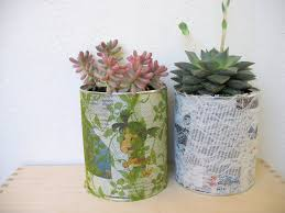 diy recycling project flower pot from tin cans ef zin creations