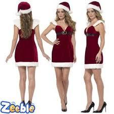 womens santa costume womens santa costume miss christmas fancy dress