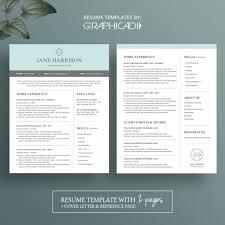 cover sheet resume sample creative resume template modern cv word cover letter ps solagenic