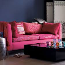 Living Room Colour Schemes - Pink living room design