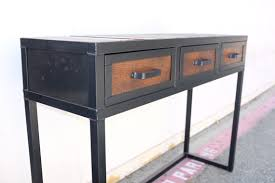industrial console table with drawers combine 9 industrial furniture categories reclaimed wood