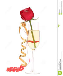 red rose in glass of champagne stock image image 36062621