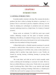 Synonyms For Customer Project Indian Textile Docx Textiles Consumer Behaviour
