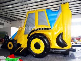 china indoor and outdoor digger bouncy castle with