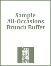 Sample Buffet Menus by Catering Menus U0026 Planners