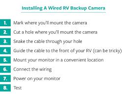 how to install a wireless u0026 wired rv backup camera
