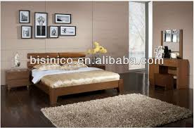 simple bed with solid wood frame bedroom furniture malaysia style