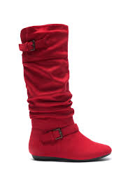 s boots calf length slollie faux suede calf length slouchy buckled up boots