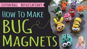 how to make bug magnets for kids diy recycle craft ladybug