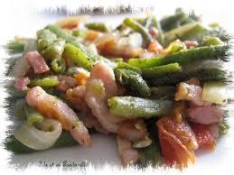 cuisiner haricot vert poêlée de haricots verts aux lardons et sa tambouille