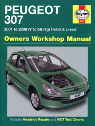 peugeot 307 petrol u0026 diesel 01 08 haynes repair manual