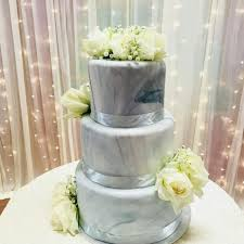 wedding cake pelangi 3 tier marble fondant wedding cake food drinks baked goods on