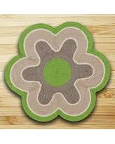 great deal on flower shaped area rug mat blue