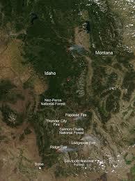 Idaho Fires Map Fires In Idaho Nasa