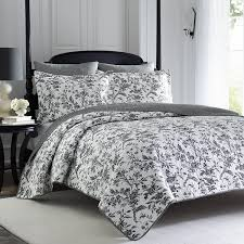 Laura Ashley Home by Amazon Com Laura Ashley Amberley Quilt Set King Black Home