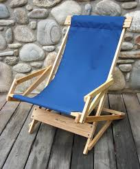 Wooden Recliner Chair Sling Recliner Rocking Chair By Blue Ridge Chair