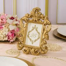 Ornate Gold Table Number Frames For Diy Wedding Tables