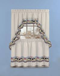 Cow Print Kitchen Curtains Fresh Milk 3 Kitchen Curtain Tier Set Curtainworks