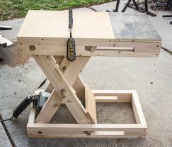 Height Adjustable Desk Diy by Scissor Bench Adjustable Height Motorized Workstation 9 Steps