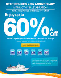 cruises 20th anniversary 60 cruise deal for malaysia