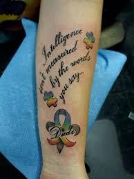 image gallery mother u0027s autism tattoos